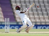 West Indies's Jermaine Blackwood in action against England on July 12, 2020