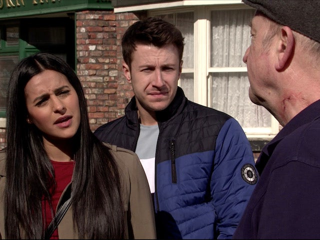 Alya and Ryan confront Geoff on Coronation Street on July 15, 2020
