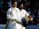 James Anderson and Monty Panesar leave the field after securing a draw in the 2009 Ashes