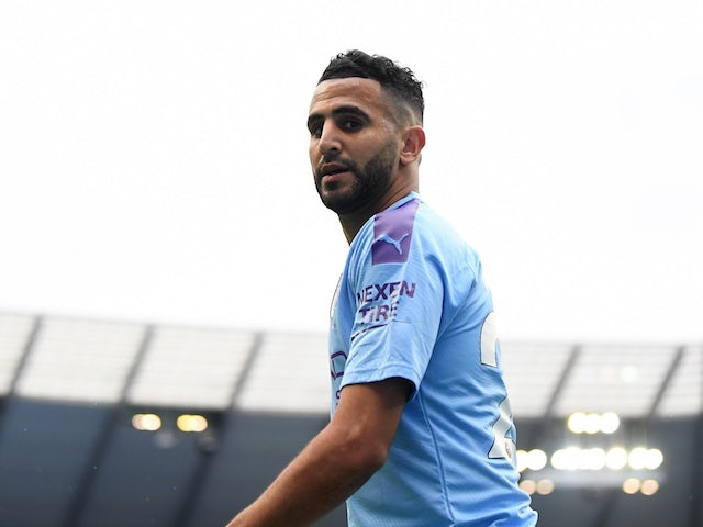 Manchester City winger Riyad Mahrez pictured on July 8, 2020