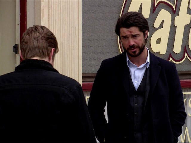 Adam on Coronation Street on July 15, 2020