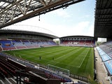 A general shot of Wigan Athletic's DW Stadium take on July 1, 2020
