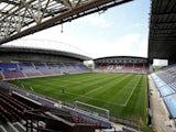 A general shot of Wigan Athletic's DW Stadium take on July 1, 2020
