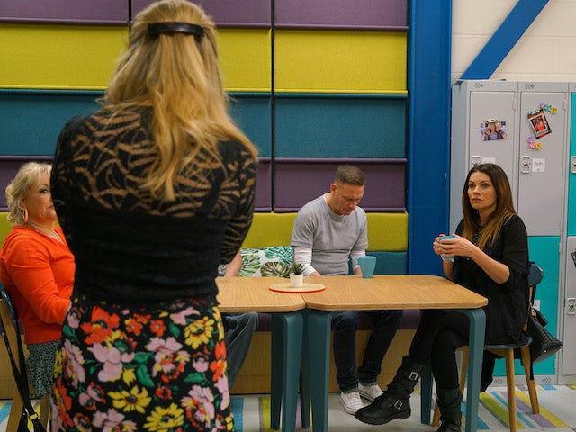 Carla and Sean at the factory on Coronation Street on July 17, 2020