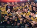 Australia celebrate beating the British & Irish Lions in the third Test in 2001