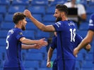 Chelsea striker Olivier Giroud celebrates scoring against Norwich City on July 14, 2020