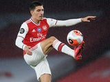 Hector Bellerin in action for Arsenal on July 7, 2020