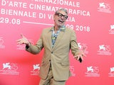 Jeff Goldblum serving jazz hands in August 2018