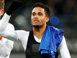 Justin Kluivert in action for Roma on February 27, 2020