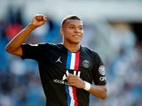 Kylian Mbappe in action for PSG on July 12, 2020
