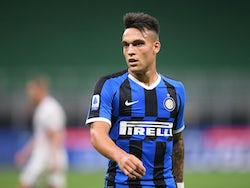 Lautaro Martinez in action for Inter Milan on July 13, 2020