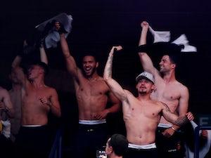 Leeds fans celebrate at Elland Road after promotion confirmed