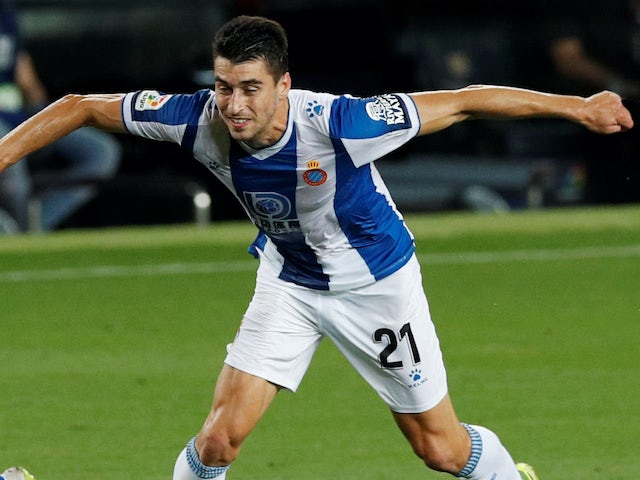Marc Roca in action for Espanyol on July 8, 2020