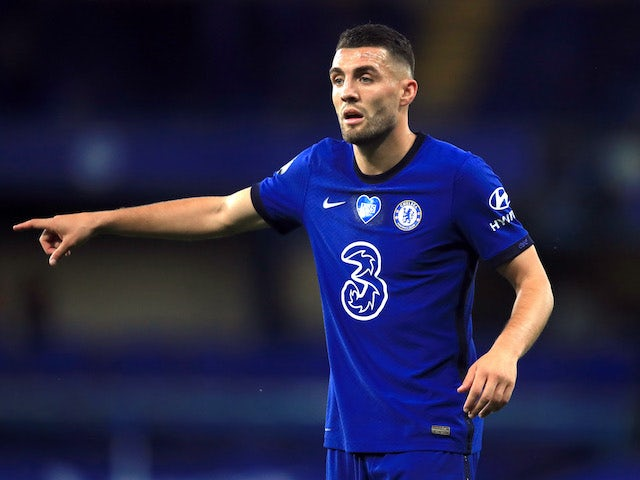 Mateo Kovacic in action for Chelsea on July 14, 2020