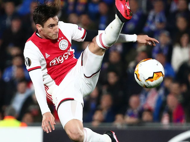 Nicolas Tagliafico in action for Ajax on February 20, 2020