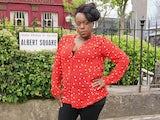 Tameka Empson on the set of EastEnders