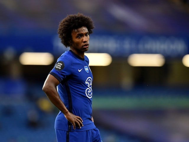 Chelsea winger Willian pictured on July 4, 2020