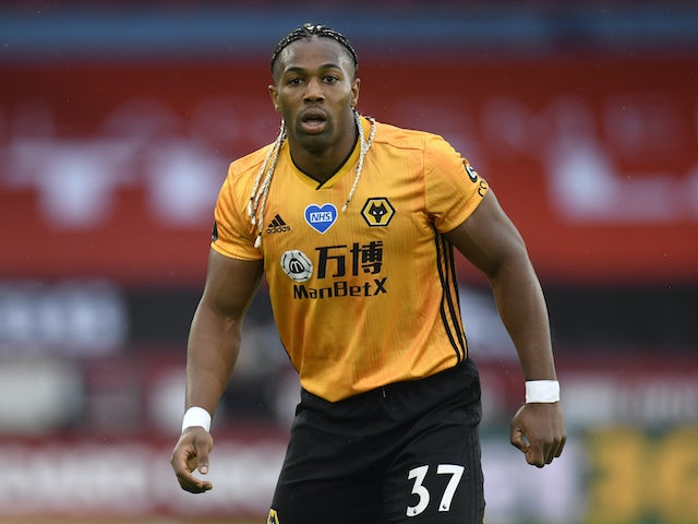 Adama Traore in action for Wolves on July 8, 2020