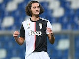 Adrien Rabiot in action for Juventus on July 15, 2020