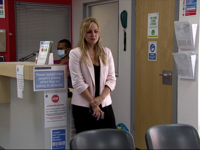 Sarah at the hospital on Coronation Street on July 31, 2020