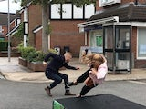 Coronation Street socially-distanced stunt