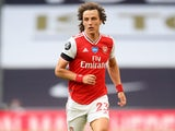 David Luiz in action for Arsenal on July 12, 2020
