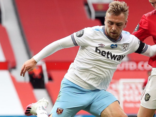 Jarrod Bowen in action for West Ham on July 22, 2020