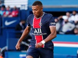 Kylian Mbappe in action for PSG on July 21, 2020