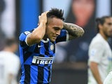 Lautaro Martinez in action for Inter on July 22, 2020