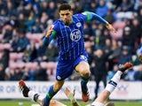 Leon Balogun pictured for Wigan Athletic in February 2020