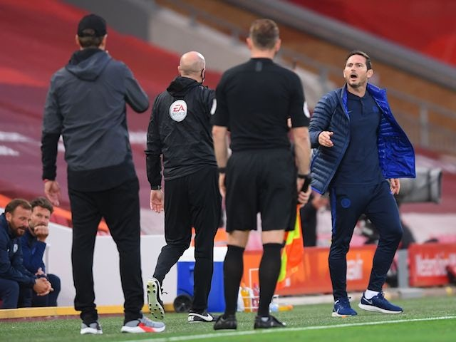Frank Lampard accuses Liverpool bench of breaking 'code of respect'