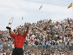 Picture of the day - Tiger Woods celebrates winning The Open in 2006