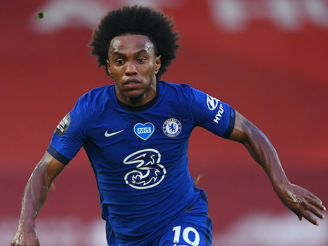 Willian in action for Chelsea on July 22, 2020