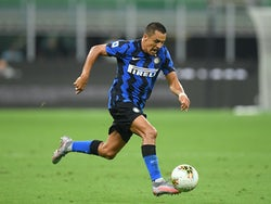 Alexis Sanchez in action for Inter Milan on July 28, 2020