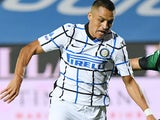 Alexis Sanchez in action for Inter Milan on August 1, 2020