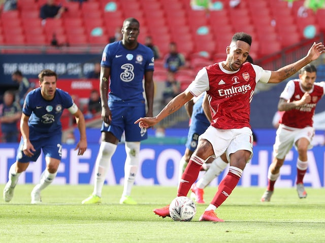Result: Pierre-Emerick Aubameyang hits double as Arsenal beat Chelsea in FA Cup final