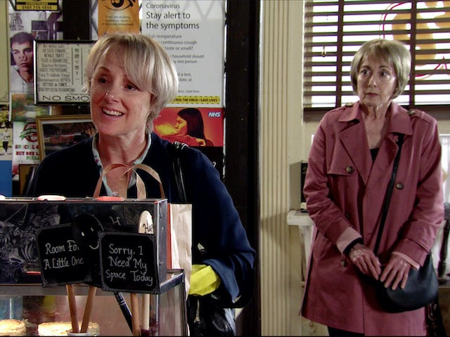 Elaine finds Sally on Coronation Street on August 3, 2020