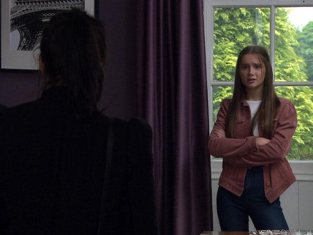 Priya discovers Sarah on Emmerdale on August 3, 2020
