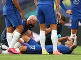 Chelsea's Christian Pulisic lies in agony on August 1, 2020