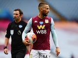 Aston Villa midfielder Conor Hourihane pictured in June 2020