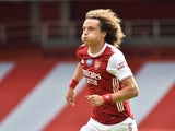 David Luiz in action for Arsenal on July 26, 2020
