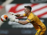 Dean Henderson in action for Sheffield United on July 26, 2020