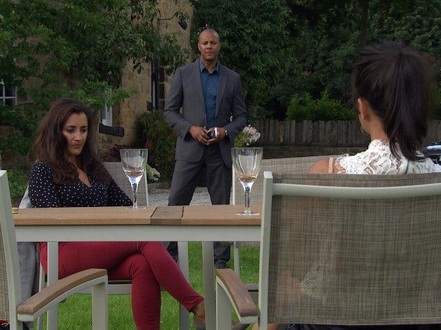 Al, Priya and Manpreet on Emmerdale on August 3, 2020