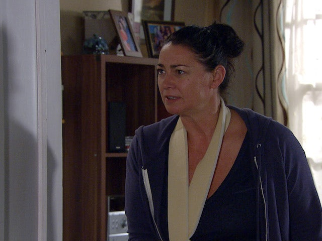 Angry Moira on Emmerdale on July 27, 2020