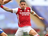 Hector Bellerin in action for Arsenal on August 1, 2020