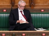 Jeremy Corbyn cuts a lonely figure on the backbenches on April 22, 2020