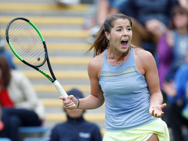 Jodie Burrage pulls off shock win over Johanna Konta at Battle of the Brits