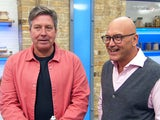 John Torode and Gregg Wallace on the semi-final of Celebrity MasterChef on July 30, 2020
