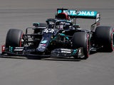 Mercedes driver Lewis Hamilton in action during practice for British Grand Prix on August 1, 2020
