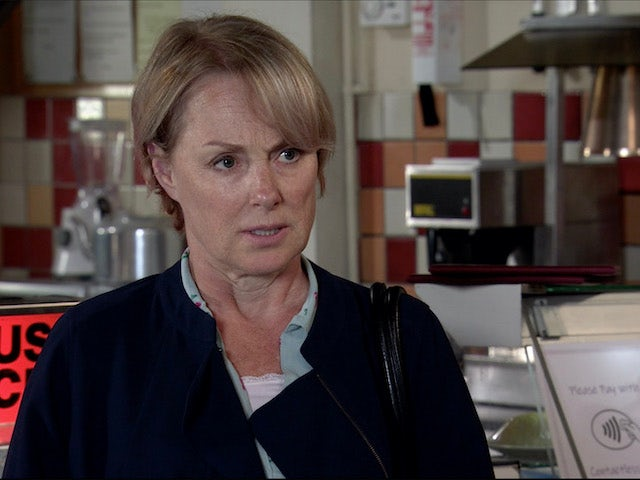 Sally listens on Coronation Street on August 3, 2020